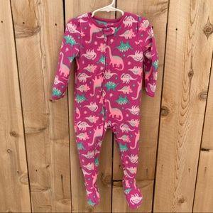 Carter's 2T fleece dinosaur print footed pajamas